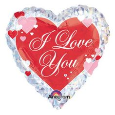 Anagram 18 Inch Valentine/'s Day Foil Balloon Vday Decorations Heart NEW GIFT