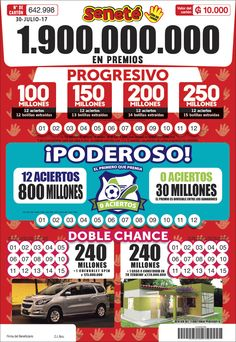 Vos podes ser el próximo millonario!! 🤞😉 #senete #cheporemoi