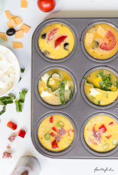Rezept Omelette aus der Muffinform - - #RacletteIdeen