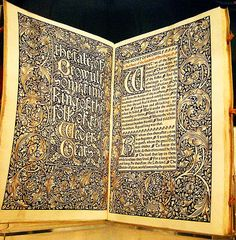 For the Love of Books...The Tale of Beowulf, Birmingham Museum, by William Morris and A J Wyatt, Kelmscot Press, Hammersmith 1895, photo by Kotomicreations via Flickr.