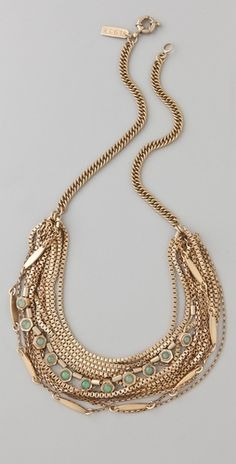 Madewell Hexagon Multi Strand Necklace - StyleSays