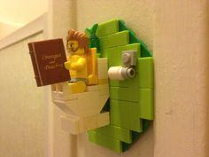 """Bathroom needed some art so I built this guy!""  OMG - Love it!!!"
