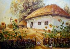 1 Folk, Painted Cottage, Gazebo, Clip Art, Outdoor Structures, Drawings, Pictures, Crafting, Paintings