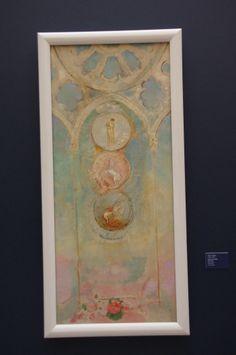 [expo]«Cathédrales 1789-1914 : un mythe moderne» au Musée des Beaux Arts de Rouen odilon redon carton de vitrail