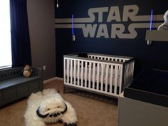 This #StarWars Nursery is fit for a baby Jedi