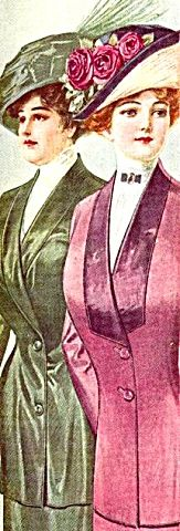 1911 Full Color Fashion Illustration The Delineator Rose Hat