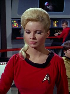 "TOS: ""The Deadly Years"": Yeoman Doris Atkins, this week's second sexy Starfleet officer. She was played by Carolyn Nelson, who is married to..."