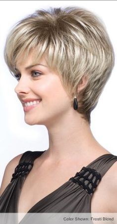 Blonde European Short Straight Synthetic Hair Wig @ Synthetic Wigs For W. Layered Pixie Cut, Pixie Cuts, Curly Hair Styles, Natural Hair Styles, Natural Hair Wigs, Long Hair Tips, Glossy Hair, Short Wigs, Short Pixie
