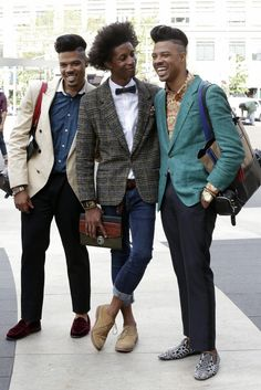 黒人ファッションかっこいい!!    Men of New York Fashion Week   SNAP   WWD JAPAN.COM