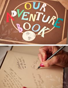 I just fell in love with this!!! Disney Pixar's Up! Themed guest book