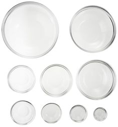 (This is an affiliate pin) Luminarc Stackable 9-Piece Bowl Set Mixing Bowls, Bowl Set, Plates, Tableware, Kitchen Dining, Kitchen Ideas, Amazon, Serving Bowls, Licence Plates