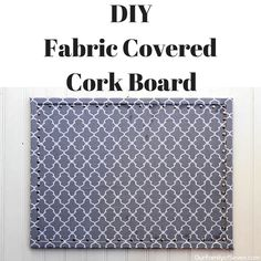Turn your cork board from conventional to creative with a fabric covered DIY bulletin board. Purchase your cork board from Bangor Cork and create one today!
