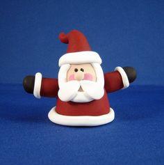 Polymer Clay Figurine - Santa Ornament