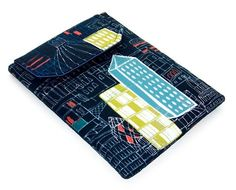 Ipad Mini Case Blackberry Playbook Cover CITY by WhimsyWooDesigns
