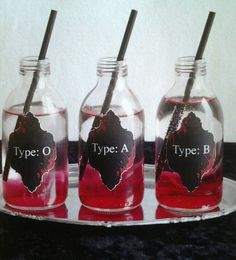 Blood Type Cocktails