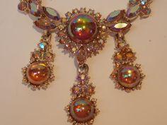 Vintage Corro Necklace Earrings Broken by sistersfuntreasures, $15.99