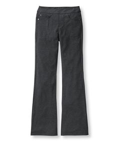Charcoal Gray Five-Pocket Performance Bootcut Pants - LL Bean