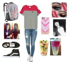 """""""Leaving to go on tour with boyfriend """"Crawford Collins"""""""" by veronicabrooks1 ❤ liked on Polyvore featuring The North Face, Vans, Casetify, Victoria's Secret and Aroma"""