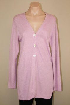 Soft Surroundings Pink Viscose Wool Cashmere Blend Long Oversized Cardigan sz S #SoftSurroundings #VNeck