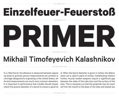 Calibre by Klim Type Foundry