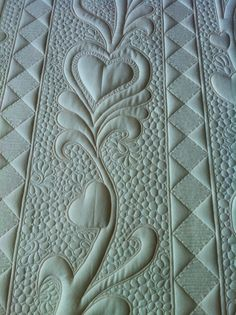Closeup of quilting by Lucie in Quebec. Beautiful!!
