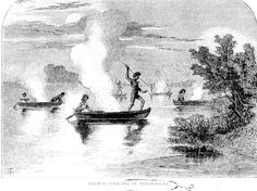 Coos Indians Spear-Fishing, 1856, HARPER'S MAGAZINE
