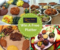 In this free to enter competition, you could win 1 of 5 delicious meals for two people at Queen Sheba Ethiopian Restaurant! Click now to enter for free. Delicious Meals, Yummy Food, Ethiopian Restaurant, Meals For Two, Platter, Competition, Presentation, Foods, Queen