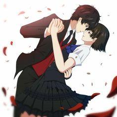 Persona 5 Makoto, Persona 5 Anime, Persona 5 Joker, Persona 4, Manga Anime, Got Anime, Anime Love Couple, Cute Anime Couples, Couple Pics