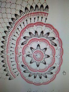 Serweta Crochet Cozy, Crochet Round, Diy Crochet, Crochet Doilies, Crochet Diagram, Crochet Chart, Filet Crochet, Crochet Stitches, Doily Patterns