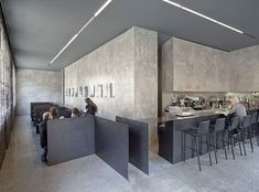 "shant-krichelian:"" 6T7 Espai Cafe / MSB Estudi Taller"" Design Bar Restaurant, Cafe Restaurant, Restaurant Interiors, Tadelakt, Bar Seating, Hospitality Design, Cafe Interior, Cafe Bar, Commercial Interiors"