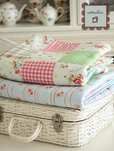Shabby Cottage ~ flannel quilts