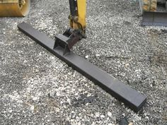 Screed Bar by Johnny English -- Homemade screed bar constructed from a surplus excavator bucket and 4x6 rectangular tubing. http://www.homemadetools.net/homemade-screed-bar