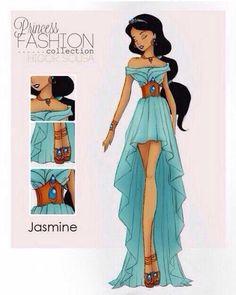 Fashion by Higor Sousa pics) Disney Princess fashion. Jasmine Legacy day dress for the future Jasmine! Jasmine Legacy day dress for the future Jasmine! Disney Punk, Disney Girls, Disney Magic, Disney Art, Disney Movies, Disney High, Style Disney, Disney Princess Fashion, Disney Fashion