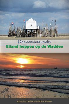 Dit is een gaaf idee voor een vakantie in eigen land. Eilandhoppen van Waddeneiland naar Waddeneiland. Ervaar de unieke natuur van de eilanden. Vakantie in Nederland is zo wel heel bijzonder! Holland, Dutch, Europe, Places, Fun, Movie Posters, Travel, Inspiration, The Nederlands