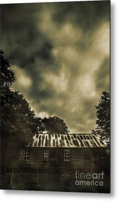 Abandoned Metal Print featuring the photograph Sinister Outback Farmhouse by Jorgo Photography - Wall Art Gallery