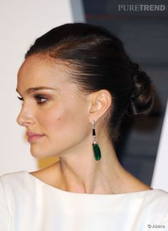 Natalie Portman sur le red carpet des Oscars 2015.