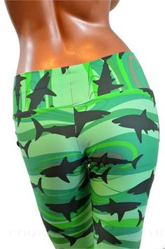 Green Shark Leggings. Please if you love me you will give me these!!!!