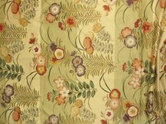 Green Floral Cotton yardage Fabric Dogwood Pale Green + FREE SAMPLES!!! on Etsy, $21.99