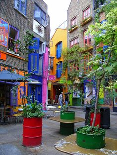 Neal's Yard-Covent Garden-Londres. Photo de fabelfuchs.