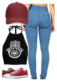 """""""Untitled #586"""" by leahmonee ❤ liked on Polyvore featuring Boohoo, Whistles, Converse, women's clothing, women, female, woman, misses and juniors"""