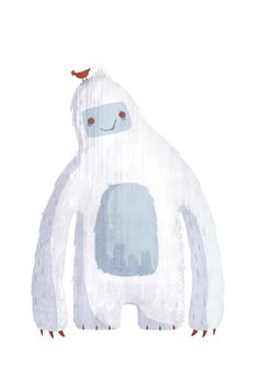 Pictoplasma/Missing link ''Draw me a Yeti'' by Villie Karabatzia, via Behance