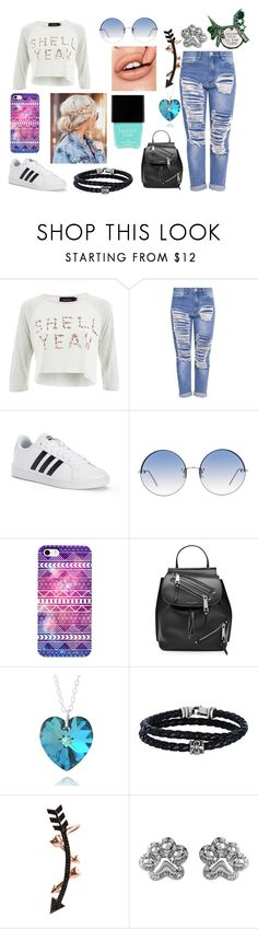 """""""#38r"""" by ronnie-555 on Polyvore featuring MINKPINK, adidas, Linda Farrow, Marc Jacobs, Phillip Gavriel, Wild Hearts, ASPCA and Butter London"""