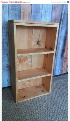 10% Off Sale Ipswich Pine Stained Douglas Fir & Northern Pine Wood Book Shelf Bookcase Bathroom Hall Entry Kitchen 8wx16.25lx31h Custom Size on Etsy, R$134,48