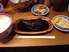 鯖の煮付け定食( ̄(エ) ̄)v