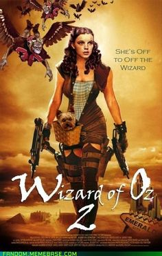 Those Flying Monkeys don't stand a chance...  Tags: The Wizard of Oz, Judy Garland, Toto, Zombies, Zombie Apocalypse