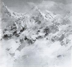 Balthasar Burkhard, Montagne blanche, 1993. Balthasar Burkhard. Reproduction (c) Musée d'art du Valais, Sion