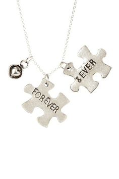 Forever & Ever Puzzle Pendant Necklace by Alisa Michelle on @HauteLook