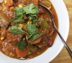 Hearty Everything-But-The-Kitchen-Sink Soup!