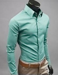 Willstyle Stylish Long Sleeve Shirt Gray Green