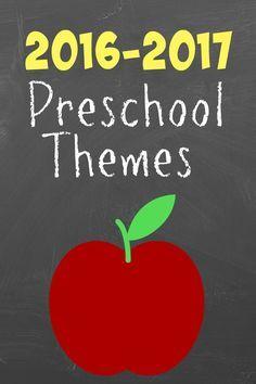 2016 preschool theme ideas by week